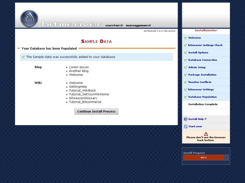 Bitweaver Screenshots
